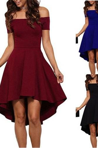 Summer Off Shoulder Party Dress Sexy Elegant Bodycon Club Dress