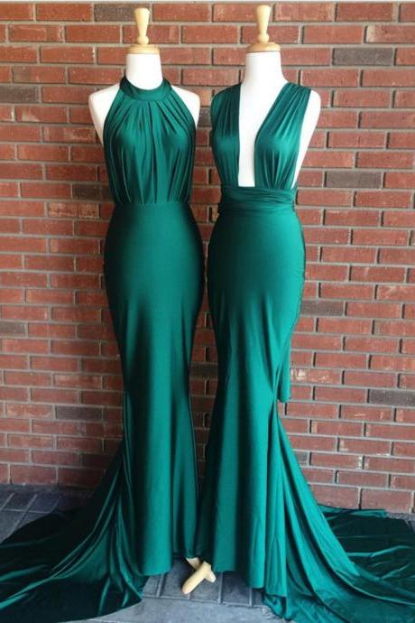Green Prom Gowns,Mermaid Prom Dress,Elegant Evening Dress,Sexy Mermaid Gowns
