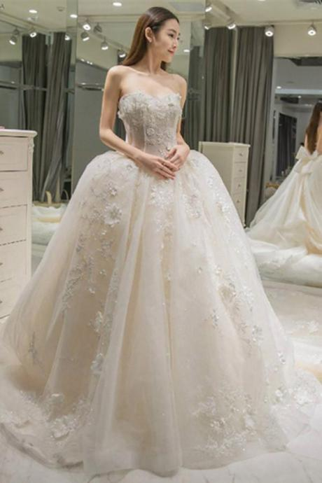 A-Line Wedding Dresses,Floor-Length Wedding Gown,Ball Gown Wedding Dress