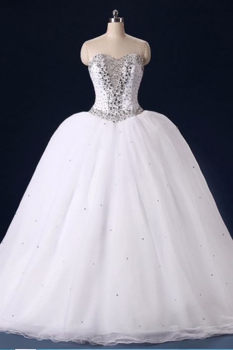 Gorgeous Sweetheart Wedding Dresses Princess Ball Gown Wedding Bridal Dress