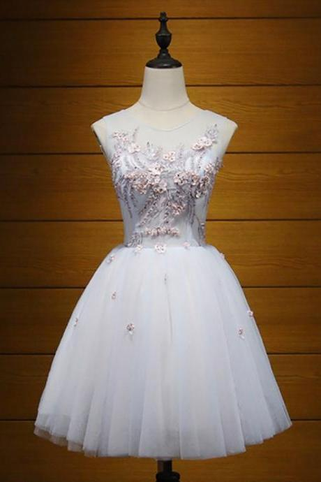 Beautiful Junior School Dress, Tulle Homecoming Dress, Knee-Length Homecoming Dress,