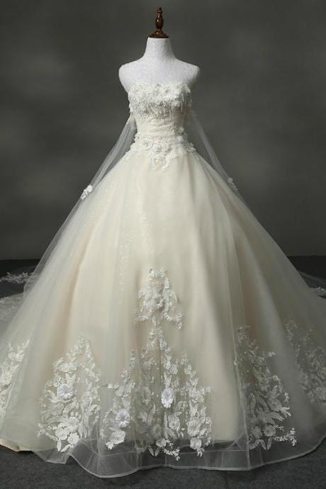 Wedding Dress Real Photo Sweetheart With Appliques Ball Gown Wedding Dresses