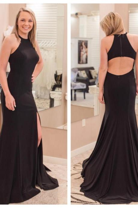 Sexy Sleeveless Mermaid Prom Dresses, Formal Long Evening Dress