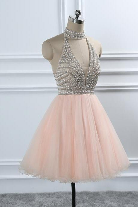 Crystal Beading Homecoming Dresses European Sweet 16 Formal Prom Party Graduation Dress Gowns For Weddings
