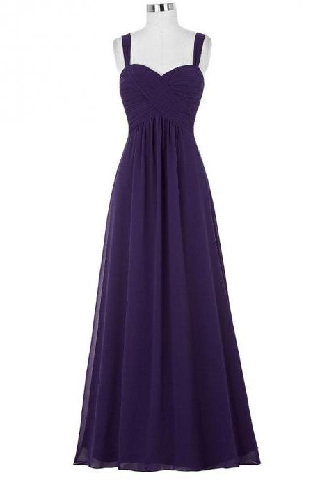 Sexy V Neck Chiffon Women Evening Dresses ,Long Elegant Prom Dresses Party Evening Gown
