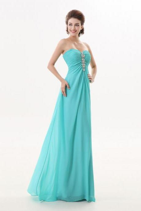 Turquoise Long Sweetheart A Line Formal Evening Special Occasion Dresses