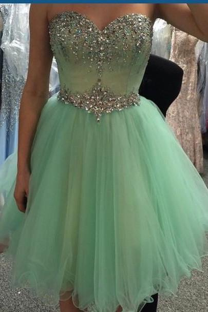 Custom Made A Line Sweetheart Neck Short Prom Dresses 4777ab476