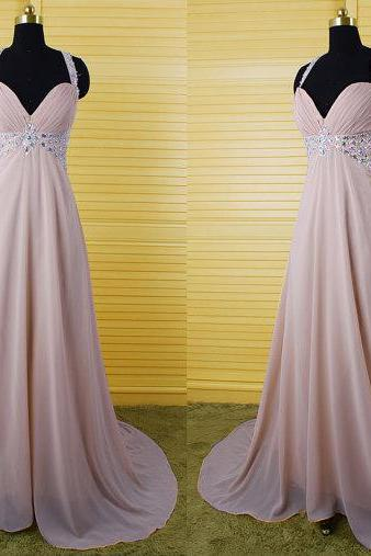 High Quality Prom Dress,A-Line Prom Dress,Chiffon Prom Dress,V-Neck Prom Dress, Charming Prom Dress