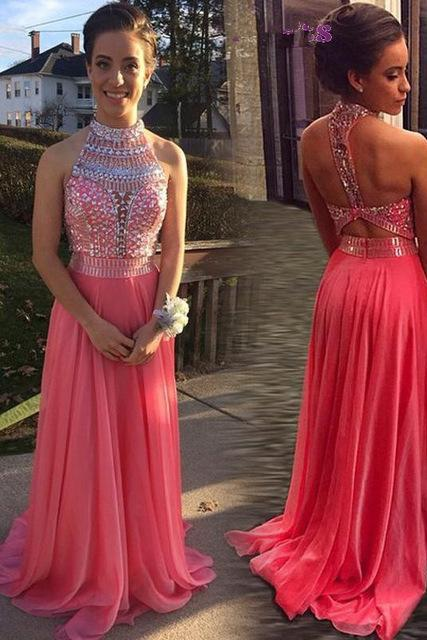 Beaded Prom Dress,Backless Prom Dress,Fashion Prom Dress,Sexy Party Dress,Custom Made Evening Dress