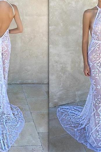 Backless Prom Dress,Lace Prom Dress,Fashion Prom Dress,Sexy Party Dress,Custom Made Evening Dress