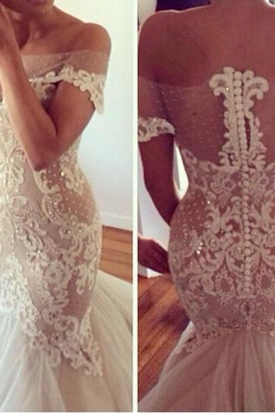 Wedding Dress ,Custom Made Wedding Dress ,Halter Wedding Dress, Bridal Wedding Dress , Layered Wedding Dress
