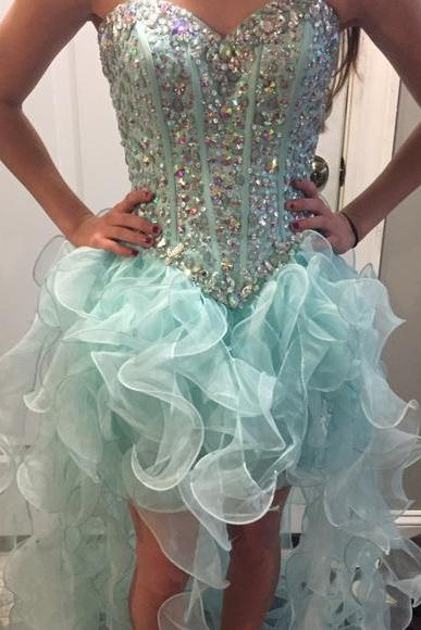 Prom Dresses Sexy Luxury Sparkle Cheap Turquoise Prom Dress Formal Dress Evening Dress Party Prom Gowns