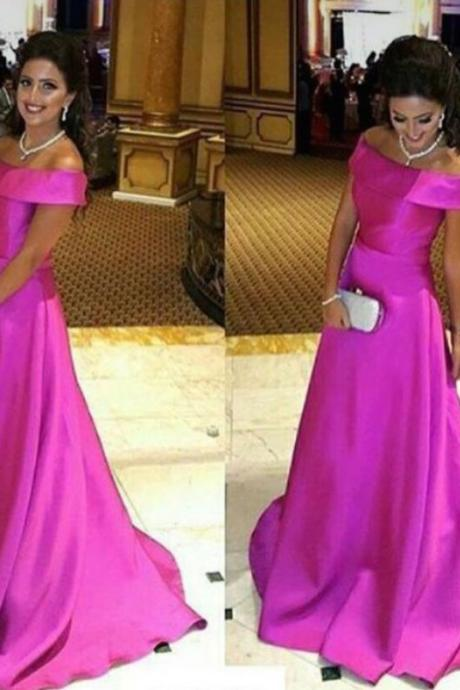 Prom Dresses,Evening Dress,Prom Dresses,Prom Dress,Simple off the shoulder Pink Evening Gown A-Line Modest Prom Dress