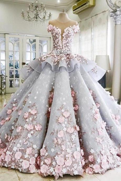 Modest Quinceanera Dress,Floral Bal.. Modest Quinceanera Dress,Floral Bal.. Modest Quinceanera Dress,