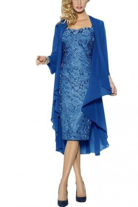 Sexy Women's Lace Mother of the bride Evening Dress with Jacket Formal dress