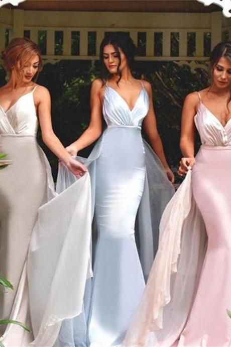 V-neck Bridesmaid Dresses,Mermaid Bridesmaid Dress,Sexy bridesmaid dress,Unique bridesmaid dress, Wedding Party Dresses,Long Bridesmaid Dress,Bridesmaid Dresses,Bridal Gowns