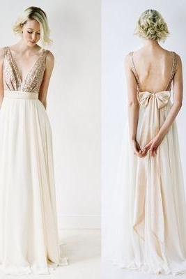 Bridesmaid Dress,Long Bridesmaid Dress,V-Neck Bridesmaid Dress,Backless Bridesmaid Dress,Cheap Bridesmaid Dress