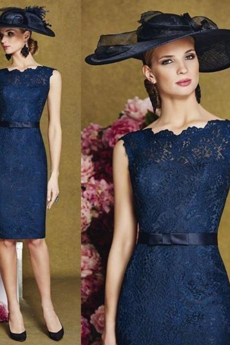 New navy lace Mother Of The Bride Outfits Social Occasion Wedding Dress customiz