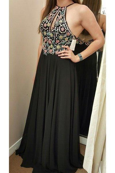 Sexy long made of chiffon formal cocktail dresses black cheap bridesmaid dresses beaded beaded evening gowns long homecoming dresses