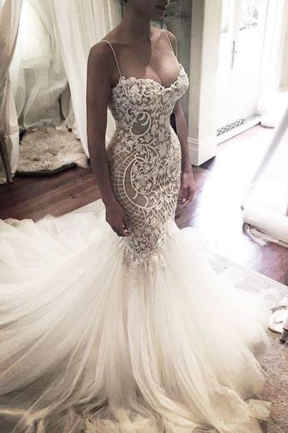 bridal dresses,2017 Luxury Mermaid Wedding Dresses Rhinestones Pearl Crystal Bead Wedding Gown