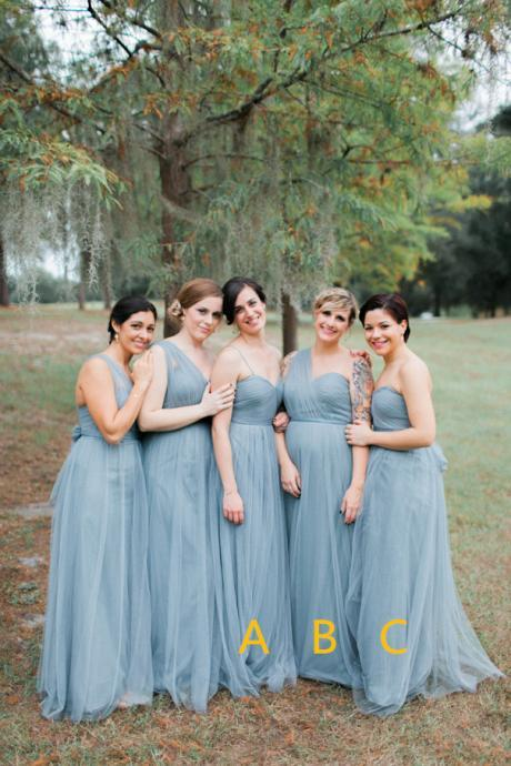 Pleated Bridesmaid Dress,Illusion Prom Dress,Fashion Bridesmaid Dresses,Sexy Party Dress, New Style Evening Dress