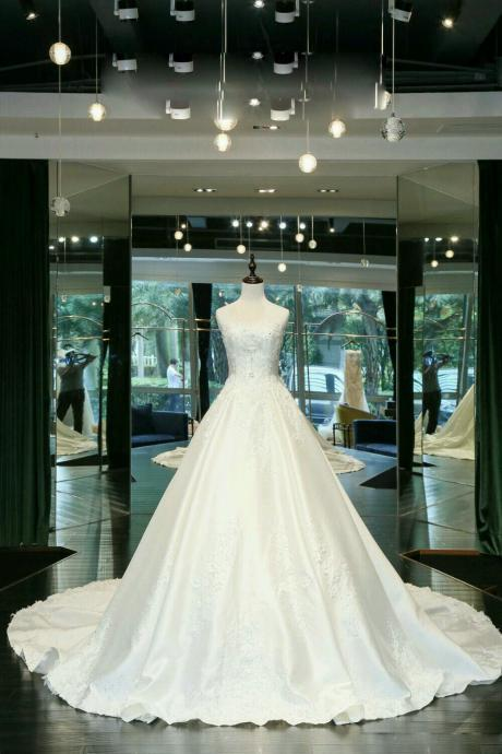 Elegant Wedding Dress, Wedding Dresses,Wedding Dress,Wedding Gown,Bridal Gown,Bride Dresses, Satin Wedding Gown,Lace Bridal Dresses