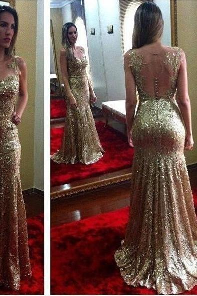 Strapless Prom Dresses,Gold Prom Dress,Modest Prom Gown,Sequins Prom Gowns,Sequined Evening Dress,Princess Evening Gowns,Sparkly Party Gowns,Backless Prom Gowns,Mermaid Evening Dress,Sexy Prom Dresses