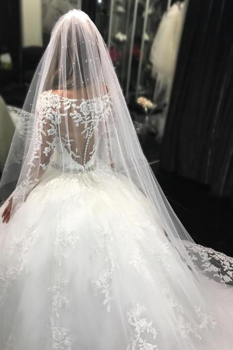 Wedding Dresses,Lace Wedding Gowns,Bridal Dress,Wedding Dress,Brides Dress,Wedding Dresses, Wedding Gown Sexy Illusion Back Long Sleeves Lace Wedding Dresses