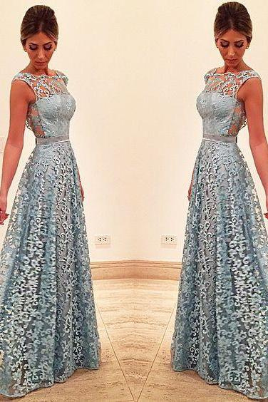 Lace Prom Dress, See-through Back Prom Dress, Unique Design 2017 Prom Dress, Long Prom Dress, Special Occasion Gowns, Prom Dress