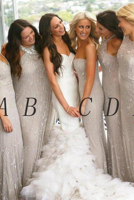 Custom Made Evening Dresses, Mismatched Bridesmaid Dresses, Bridal Collection, Prom Dresses