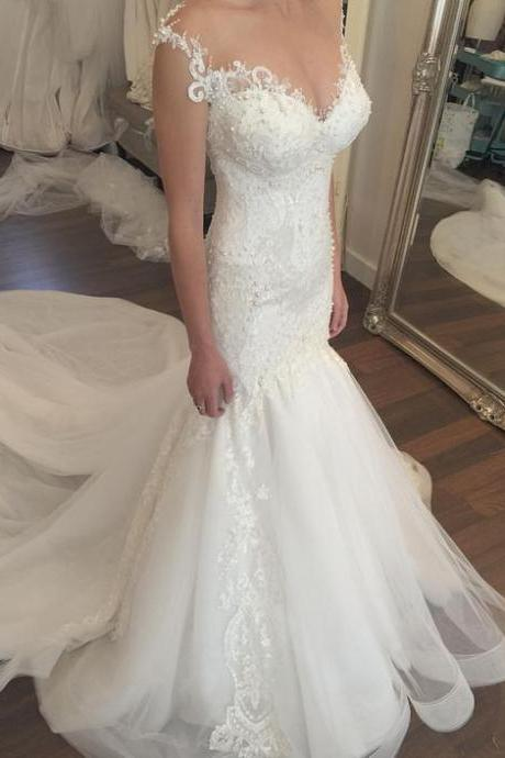 Wedding Dress High Qulity Wedding Dress Lace Wedding Dress Sweep Train Wedding Dress Open Back Wedding Dress Sleeveless Wedding Dress Luxury Wedding Dress Bridal Dress For Bride