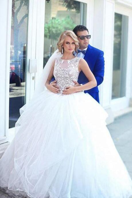 Cinderella Dresses, Wedding Dresses,Bridal Gowns,Princess Wedding Dresses with Sash, Blue Bridal Dresses, A-line Wedding Dresses,Sweetheart Sleeveless Floor-length Tulle Wedding Gowns, Custom Wedding Dresses, Fashion Dresses for Bride
