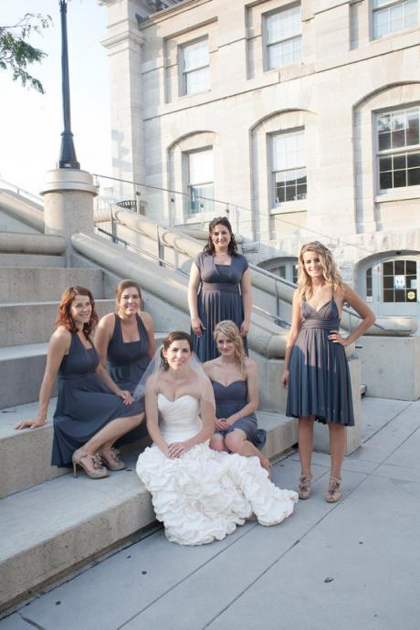 Navy Blue Short Bridesmaid Dress
