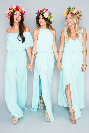 Custom Made Baby Blue Chiffon Formal Dress, Cocktail Dress, Evening Dress, Prom Dress, Bridesmaid Dress