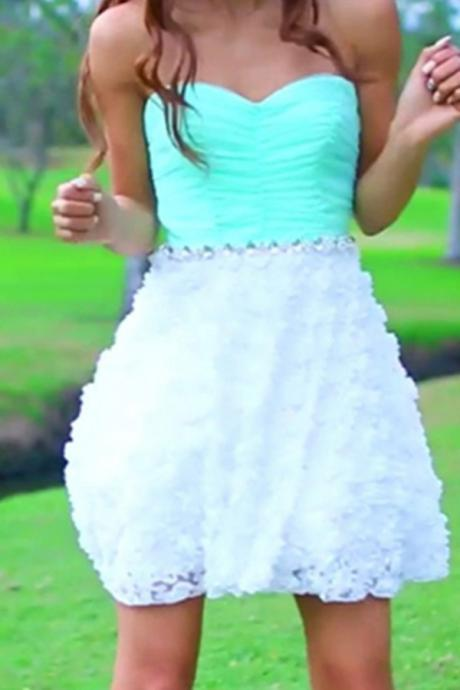 Mint Sweetheart Simple Cheap Homecoming Dresses,Party Dresses,Graduation Dresses