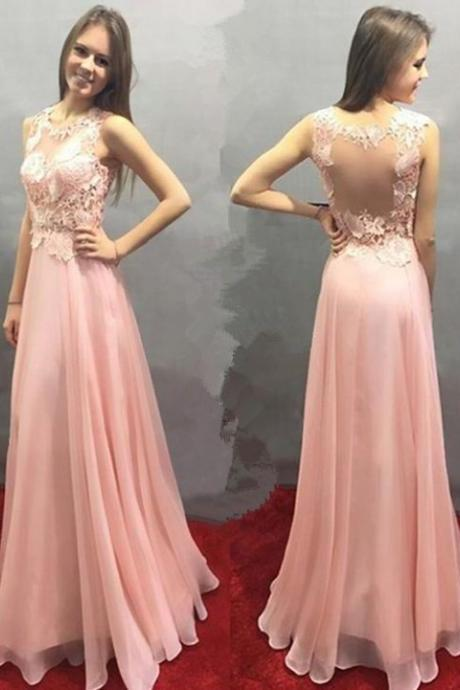 A-line Prom Dresses,Pink Prom Dresses,Lace Prom Dresses,Fashion Prom Dress,Sexy Party Dress,Custom Made Evening Dress