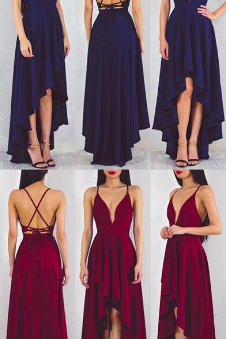 Spaghetti Prom Dress,Backless Prom Dress,Fashion Prom Dress,Sexy Party Dress,Custom Made Evening Dress