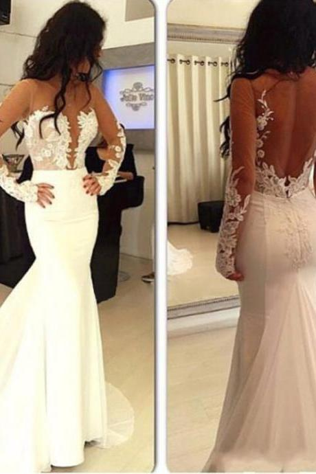 Backless Prom Dress,Mermaid Prom Dress,Fashion Prom Dress,Sexy Party Dress,Custom Made Evening Dress