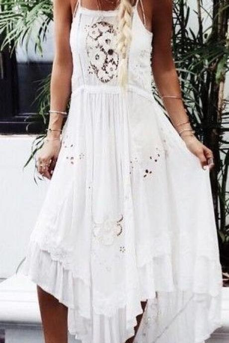 Lace Prom Dress,White Prom Dress,Fashion Prom Dress,Sexy Party Dress,Custom Made Evening Dress