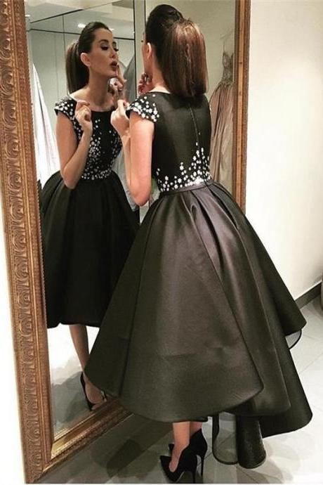 2017 Prom Dresses,A-line Prom Dresses,Beaded Prom Dresses,Short Black Prom Dresses,Little Black Dresses,Formal Dresses,Party Dresses