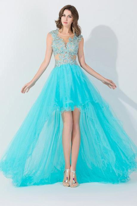 high low prom dresses, tiffany blue prom dresses, tulle prom dresses, 2017 prom dresses, affordable prom dresses, dresses for prom,