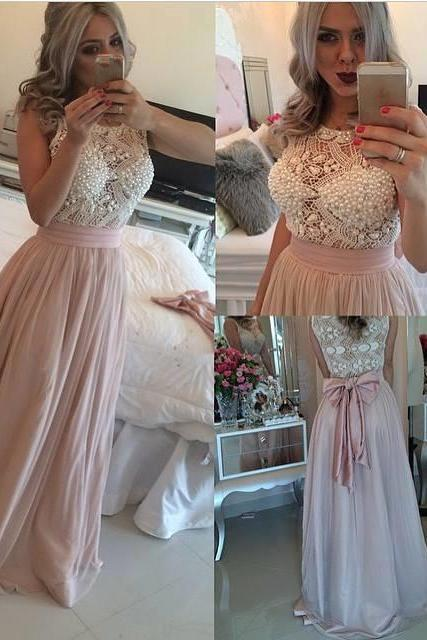 Beaded Prom Dress,Bowknot Prom Dress,Maxi Prom Dress,Fashion Prom Dress,Sexy Party Dress, New Style Evening Dress