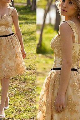 Sequins Casual Dress,Lace Prom Dress,Knee Length Prom Dress,Fashion Prom Dress,Sexy Party Dress, 2017 New Evening Dress