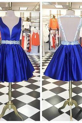 Charming Party Dress,Elegant Prom Dress,Short Prom Gown,Backless Prom Dress