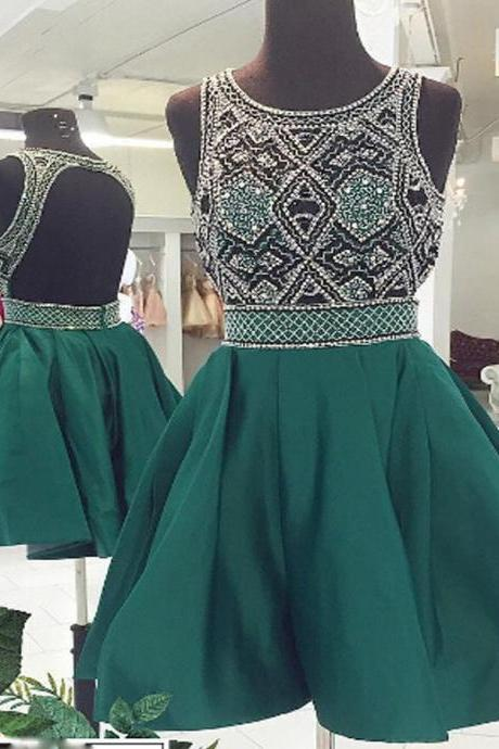 New Arrival vintage open back sparkly unique formal homecoming prom dresses,