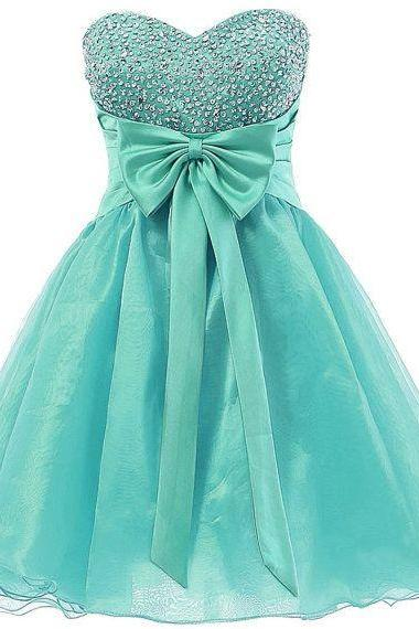 Cute Mint Green Short Prom Dress with Beadings, Cute Homecoming Dresses, Cute Graduation Dresses, Formal Dresses