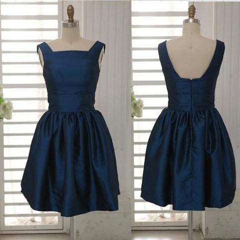 prom dresses,Short Navy Blue Prom Dresses,Taffeta Prom Dresses,2017 Cheap prom dresses,Short Navy Blue Evening Dress,Graduation Dresses, Homecoming Dresses, Cocktail Dresses,Formal Gowns