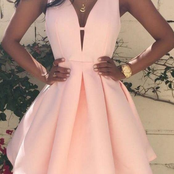 2017 Homecoming Dresses,Women's Satin Prom Dress, Homecoming Dress 2017,Party Dress