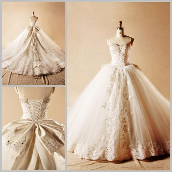 Wedding Dress 2017 Wedding Gowns Robe De Mariage Tulle Appliques Beading Ball Gown Wedding Dress