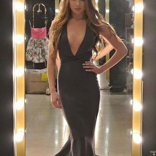 Mermaid Evening Dresses, Black Evening Gowns, Sexy Prom Dresses, Long Prom Gowns, Deep V Neck Prom Dress